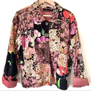 Patchwork Floral Quilted Jacket Made in India